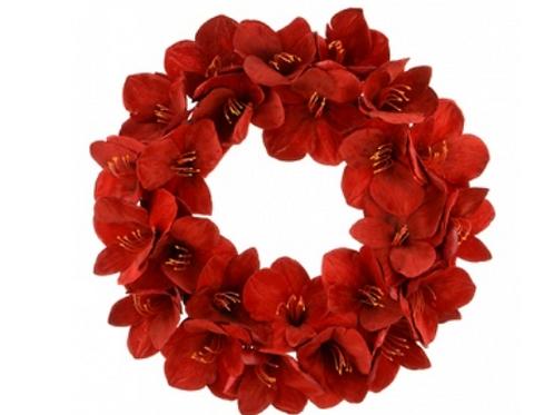 Velvet Amaryllis Wreath