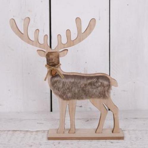 Faux Fur Standing Reindeer
