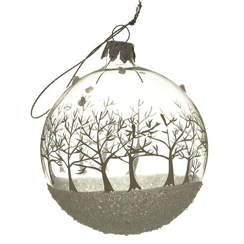 Winter Forest Glass Bauble