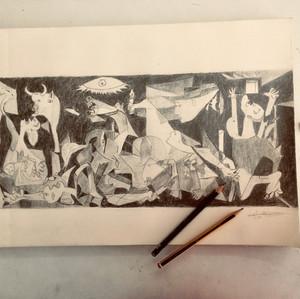 Gernica a lápiz - Jose Ramon
