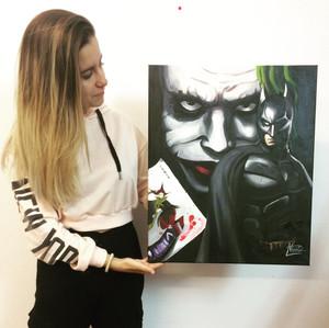 Batman y Joker acrylics - Nekane