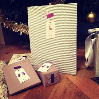 Les fées papier vous offrent les étiquettes de Noël