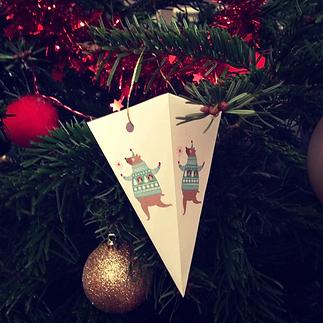 Les fées papier vous offrent un DIY : boule de Noël pour sapin