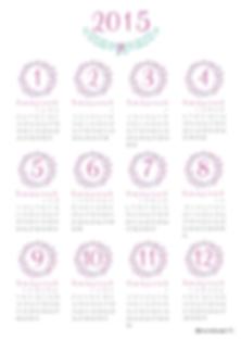 Les fées papier vous offrent le calendrier de 2015