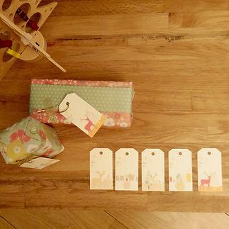 Les fées papier vous offrent vos étiquettes tags de Noël