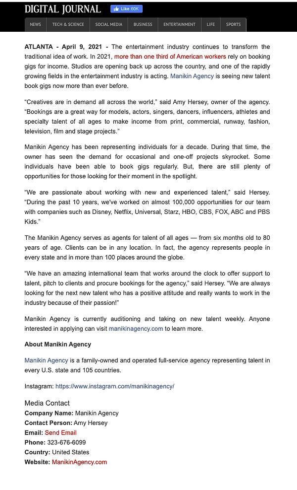 Press Release Manikin