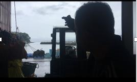 津波の後の黒い雲