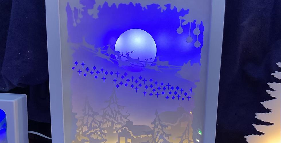 Cadre scène d'hiver portrait