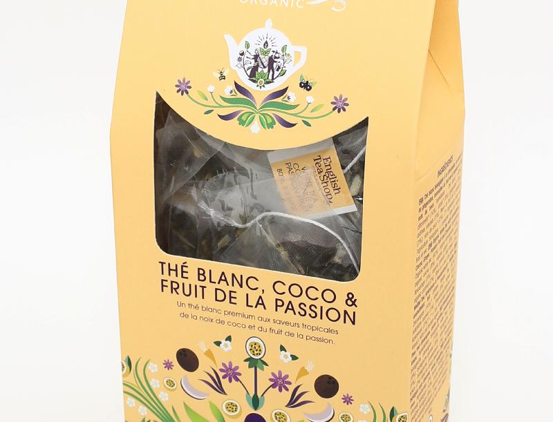 Thé blanc, Coco & Fruit de la passion 15 sachets pyramides