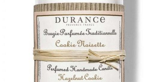 DURANCE - Bougie parfumée Cookie Noisette 180g