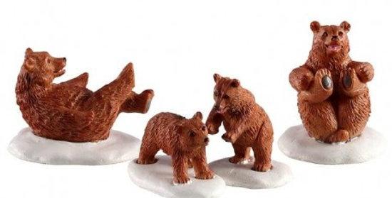 LEMAX - Famille d'ours dans la neige set de 4