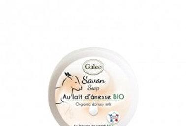 Savon au lait d'Ânesse BIO 100g - Galeo