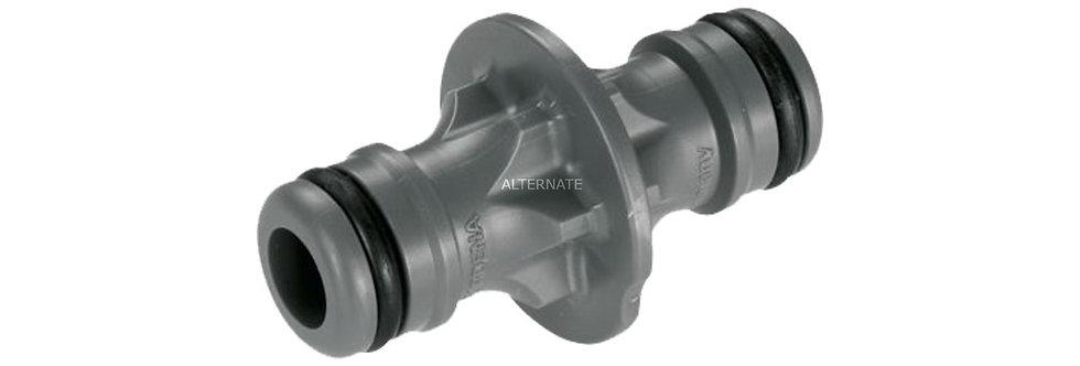 Connecteur pour rallonger un tuyau d'arrosage.