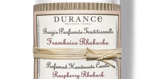 DURANCE - Bougie parfumée Framboise Rhubarbe 180g
