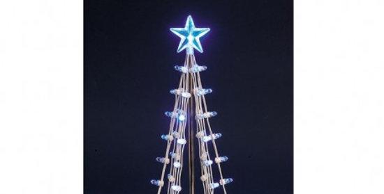 LEMAX - Arbre illuminé bleu grand modèle