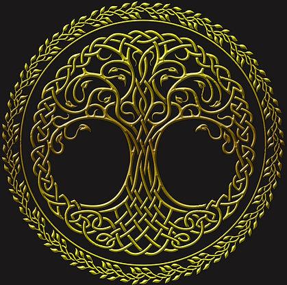 Traditional Celtic Knotwork Tree of Life Symbol Shirt
