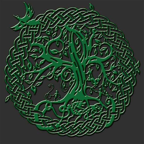 Green Norse Yggdrasil World Tree of Life Shirt