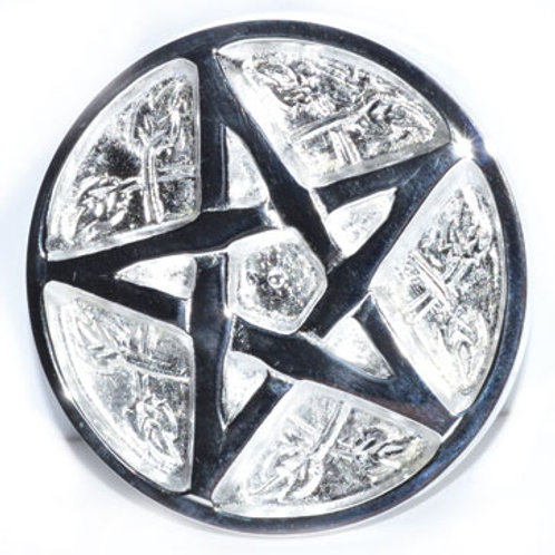 """Solid Celtic Pentagram altar tile 3"""""""
