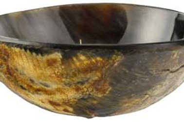 3 3/4 Inch Polished Horn Ritual Altar Offering Bowl