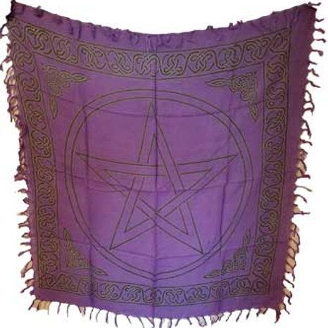 Wiccan Pagan Pentagram Altar Cloth