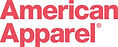 AMERICAN APPAREL LOGO in red