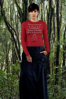 Wiccan Virtues Long Sleeve shirt