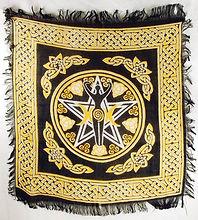 Pentagram Spiral Goddess Altar Cloth