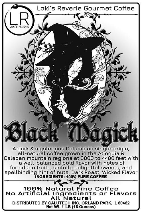 Black Magick Wiccan Pagan Organic Columbian Coffee