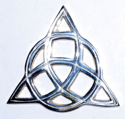 Wiccan Pagan Silver Triquetra Altar Tile