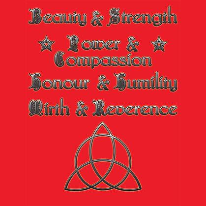 Wiccan Virtues Pagan Spirituality Shirt