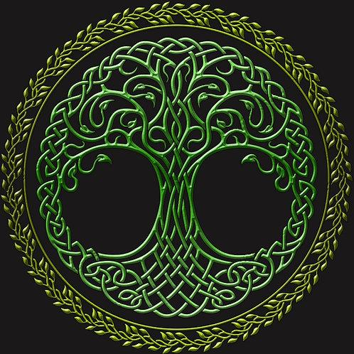 Celtic Knotwork Tree of Life Shirt Green