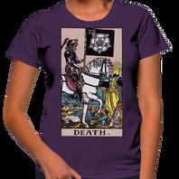 Death Tarot Shirt on Purple