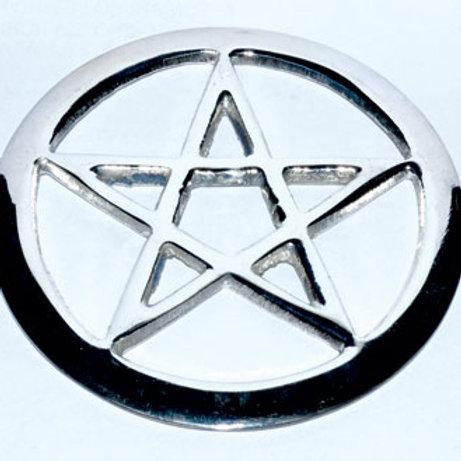 Wiccan Pagan Star Symbol Silvered Altar Tile