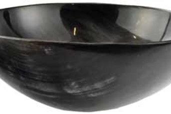 5 Inch Black Polished Horn Ritual bowl