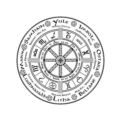 Pagan Wiccan Wheel of the Year shirt