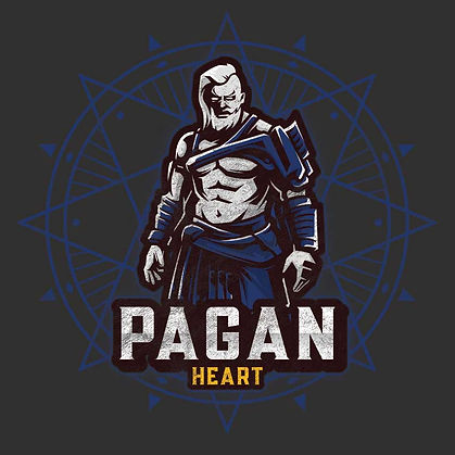 RetroPagan Heart Distressed Shirt