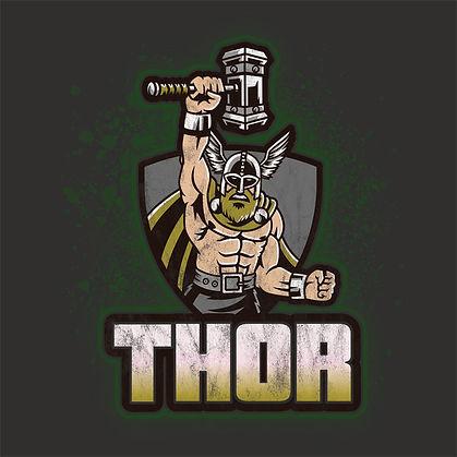 Norse God Thor Retro Distressed Shirt