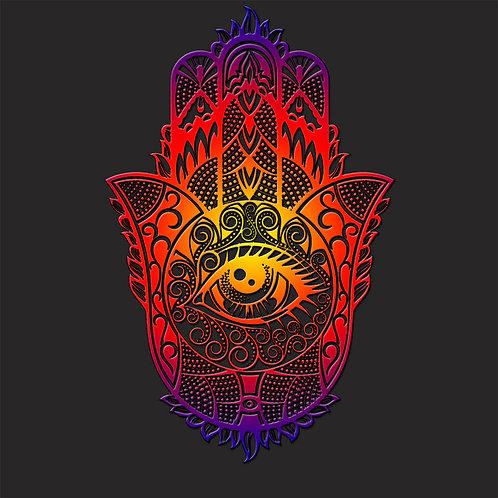 Magic Psychedelic Hand of Fatima Hasma Shirt