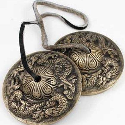 3 Inch Tebetan Dragon Tingsha Meditation Cymbals