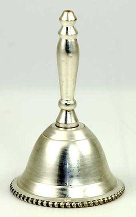 Plain Unadorned Silver Altar Bell