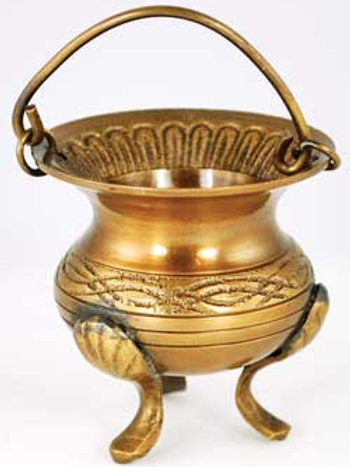 3 Inch Brass Celtic Cauldron