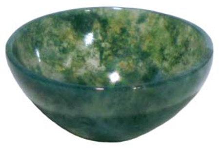 Stunning 2 Inch Moss Agate Devotional Altar Bowl