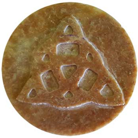 "Soapstone Carved 3"" Triquetra Altar Tile"