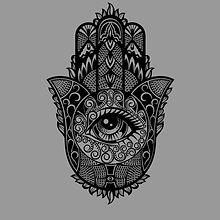Black Mystical Magic Hamsa Hand of Fatima Shirt
