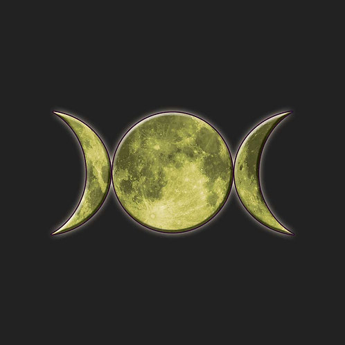 Triple Moon Goddess Pagan Wiccan Symbol Shirt
