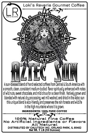 Aztec Sun 100% Organic Pagan South American Gourmet Coffee