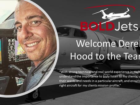 BOLDJets Welcomes Derek Hood to the Team!