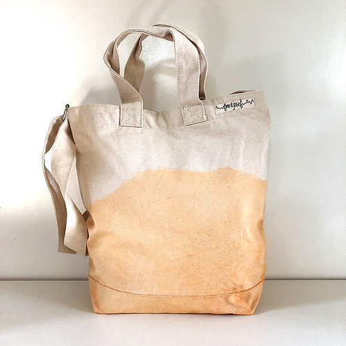 "Canvas-Tasche ""dip-dye peach"""