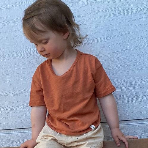 """Boxy Shirt """"brick"""" 100% Bio-Baumwolle"""