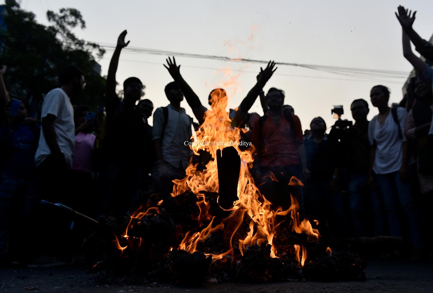 Students Protest In Kolkata